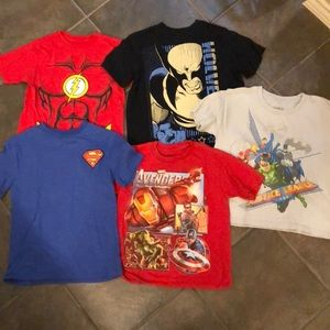 Other - Superhero short sleeve shirts 6 and S